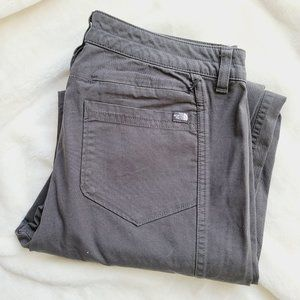 The North Face Gray Cotton Hiking Pant Zip Pocket